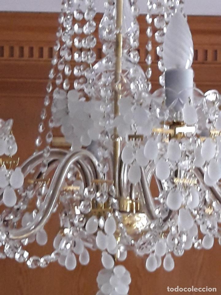 Antigüedades: LAMPARA DE TECHO DE CRISTAL DE BOHEMIA - Foto 3 - 123329683