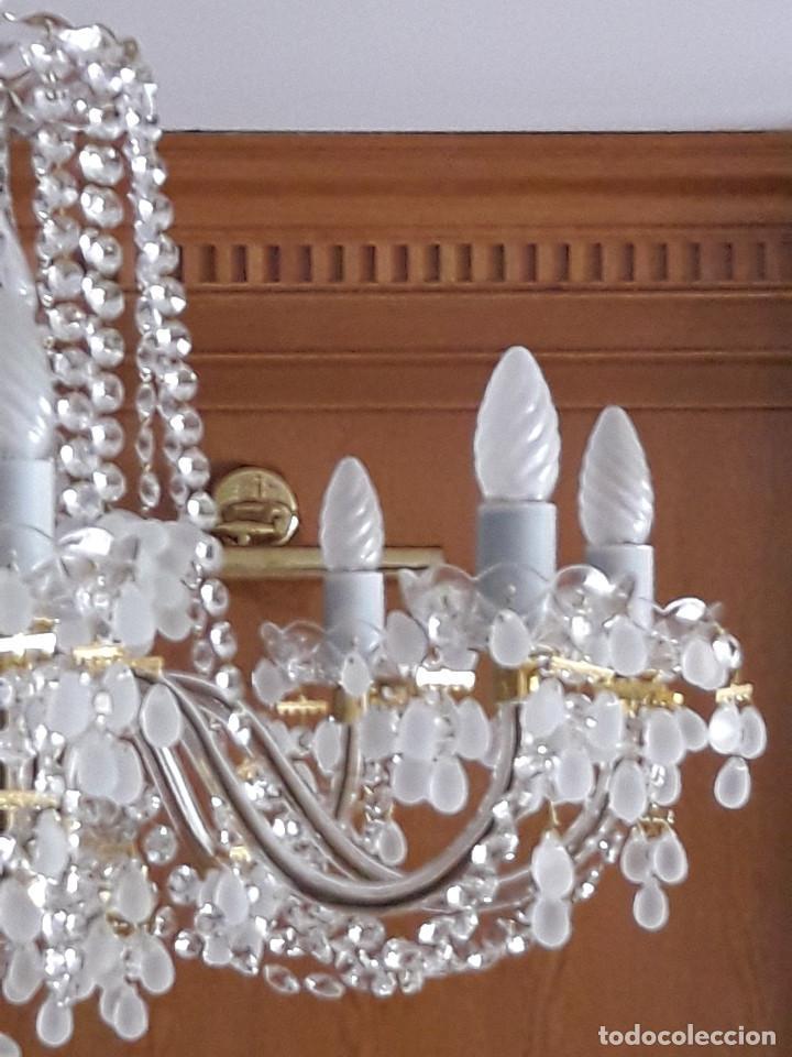 Antigüedades: LAMPARA DE TECHO DE CRISTAL DE BOHEMIA - Foto 4 - 123329683