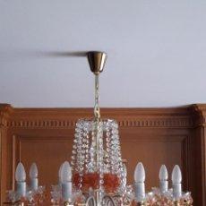 Antigüedades: LAMPARA DE TECHO DE CRISTAL DE BOHEMIA. Lote 123330007