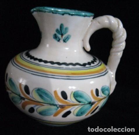 JARRA FIRMADA SANGUINO PUENTE DEL ARZOBISPO TOLEDO (Antigüedades - Porcelanas y Cerámicas - Puente del Arzobispo )