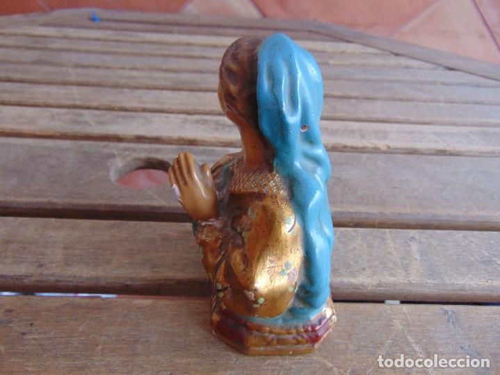 Antigüedades: BUSTO DE VIRGEN POLICROMADA EN ESTUCO O ESCAYOLA - Foto 7 - 123348159