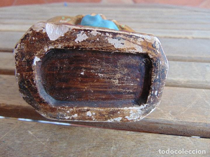 Antigüedades: BUSTO DE VIRGEN POLICROMADA EN ESTUCO O ESCAYOLA - Foto 11 - 123348159