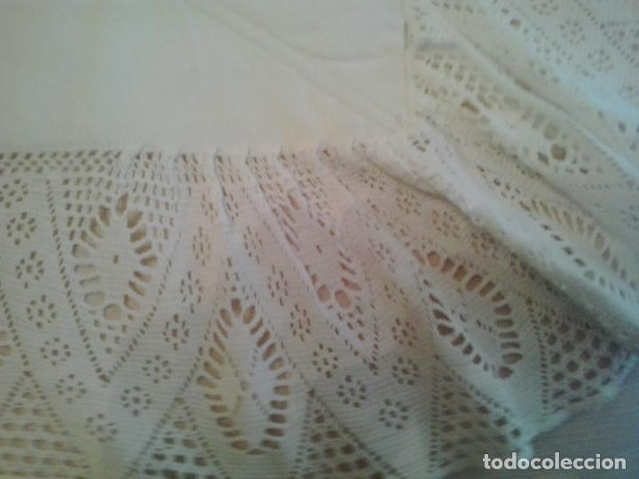 Antigüedades: Sabana hilo lino ajuar 1919.Grandes iniciales .Funda de almohada mismo ajuar Encaje bolillos - Foto 9 - 123354559