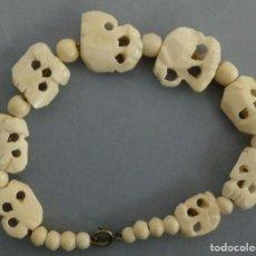 Antigüedades: ANTIGUA PULSERA DE MARFIL-HUESO. Lote 123368783