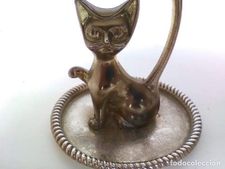 FIGURA DE METAL DE GATO (Antigüedades - Hogar y Decoración - Figuras Antiguas)