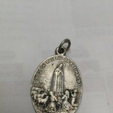 Antigüedades: MEDALLA .N.S. DO ROSARIO DA FATIMA 1917 PARECE PLATA. Lote 123380555
