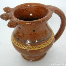 Antigüedades: JARRA DEL ENGAÑO XARRA PUTA BURLADERA * CERAMICA COCIDA Y ESMALTADA * BONXE (LUGO) BUÑO (CORUÑA). Lote 123411655