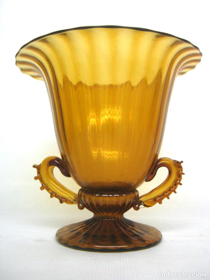 ESPECTACULAR JARRON ANTIGUO CRISTAL SOPLADO ANDALUCIA (Antigüedades - Cristal y Vidrio - Otros)