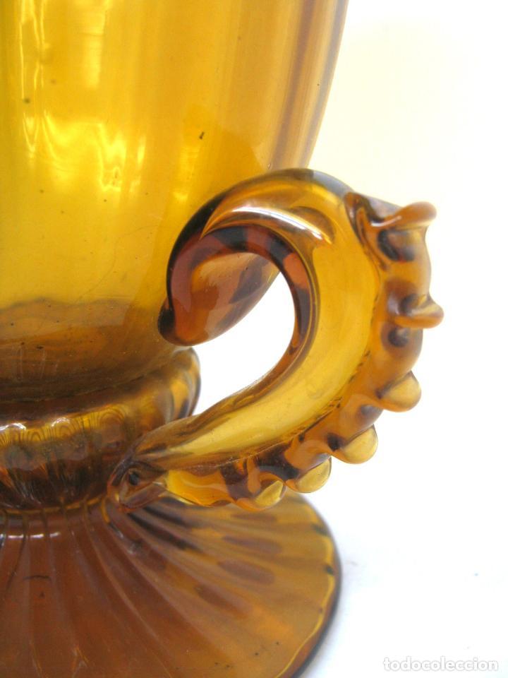 Antigüedades: Espectacular jarron antiguo cristal soplado Andalucia - Foto 4 - 123415339