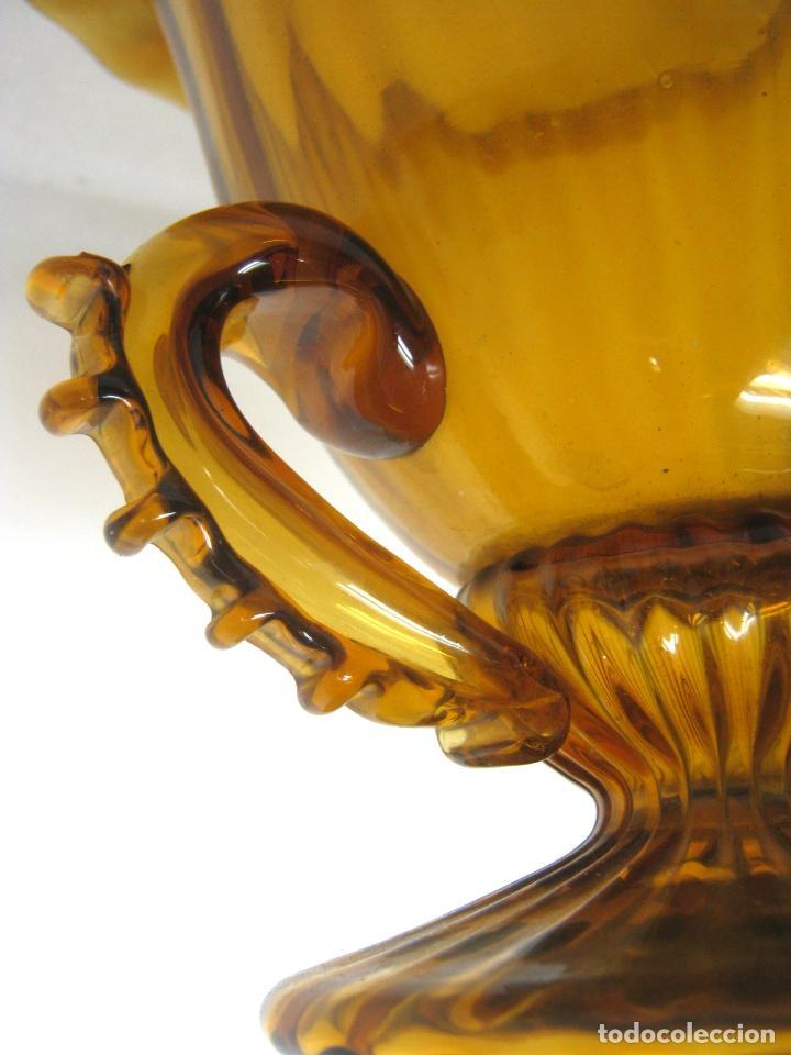 Antigüedades: Espectacular jarron antiguo cristal soplado Andalucia - Foto 5 - 123415339