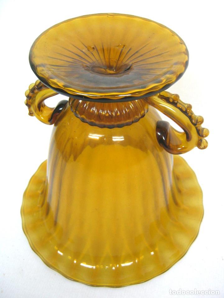 Antigüedades: Espectacular jarron antiguo cristal soplado Andalucia - Foto 6 - 123415339