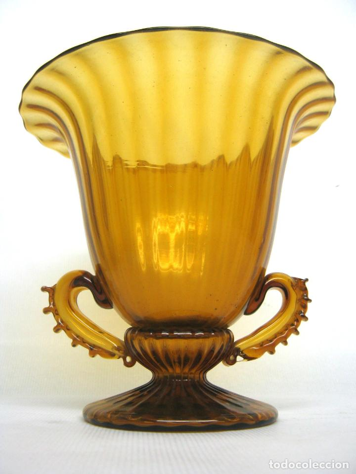 Antigüedades: Espectacular jarron antiguo cristal soplado Andalucia - Foto 7 - 123415339