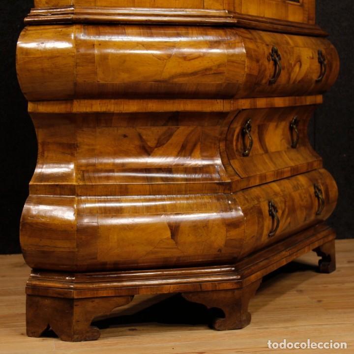 Antigüedades: Vitrina holandesa en madera de nogal, raíz de nogal y arce - Foto 6 - 123460211