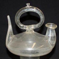 Antigüedades: BOTIJO EN CRISTAL SOPLADO CATALAN. SIGLO XIX. Lote 123475183