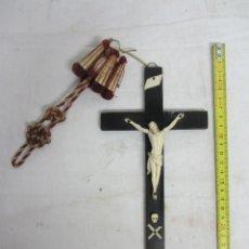 Antigüedades: CRISTO EN MARFIL FIN. S.XIX. Lote 123514271