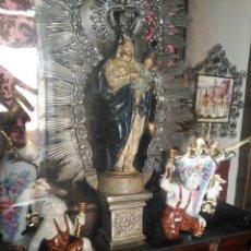 Antigüedades: PAREJA CERAMICA SUREDA PORTA -VELAS -VELERO -ANGELES . PORCELANA IDEAL CAPILLA VIRGEN . Lote 123517851