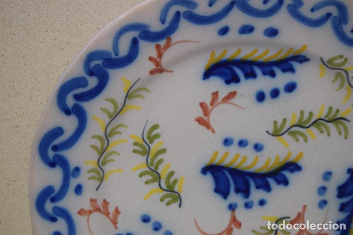 Antigüedades: plato de ceramica de figas - Foto 2 - 123534035