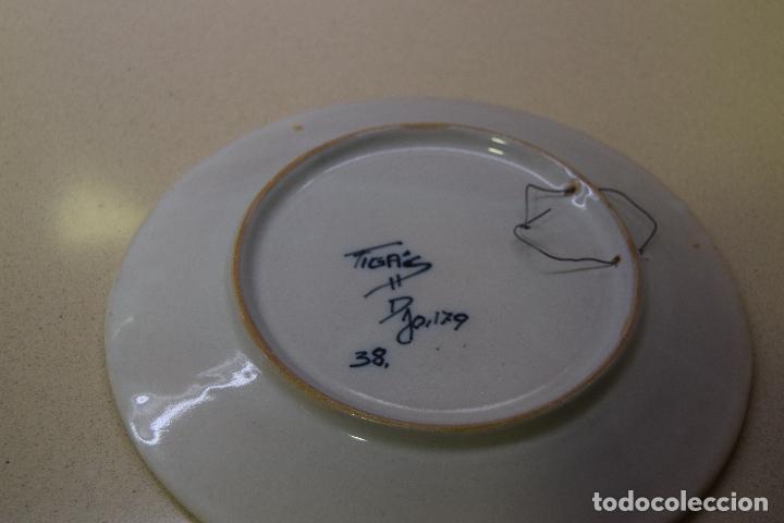 Antigüedades: plato de ceramica de figas - Foto 3 - 123534035