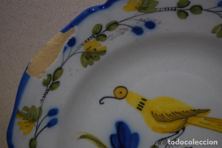 Antigüedades: plato de ceramica de figas - Foto 2 - 123534287