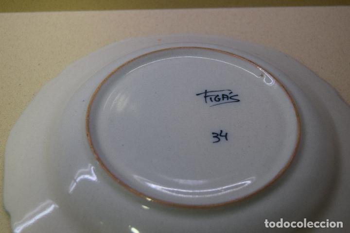 Antigüedades: plato de ceramica de figas - Foto 3 - 123534287