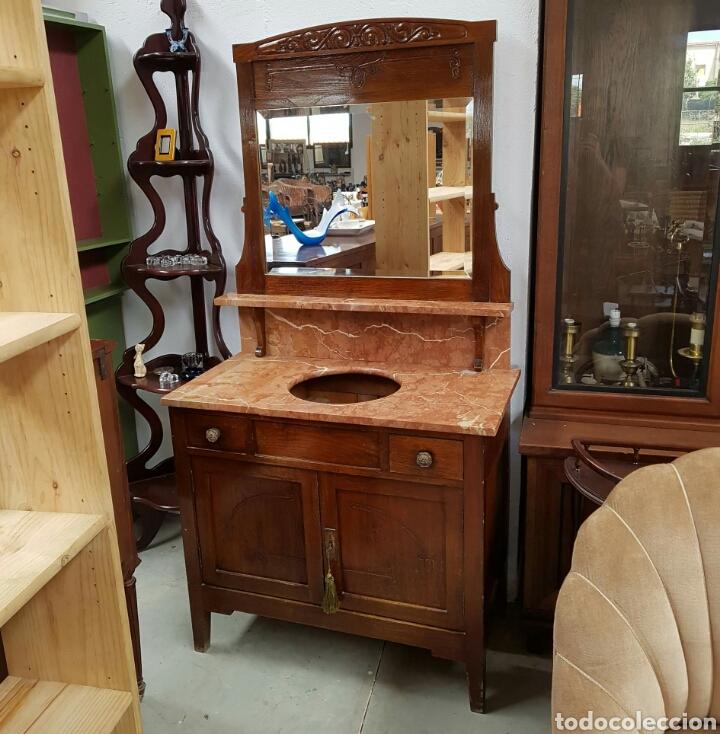 Oferta mueble ba o para lavabo antiguo de made comprar muebles auxiliares antiguos en - Muebles bano antiguos ...
