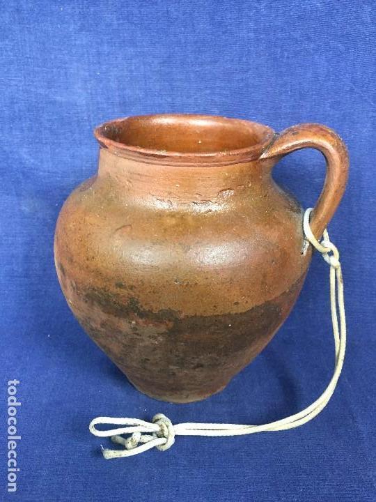 Antigüedades: ANTIGUA VASIJA OLLA PUCHERO BARRO UN ASA CONTENEDOR DE LÍQUIDOS S XX - Foto 2 - 123562847