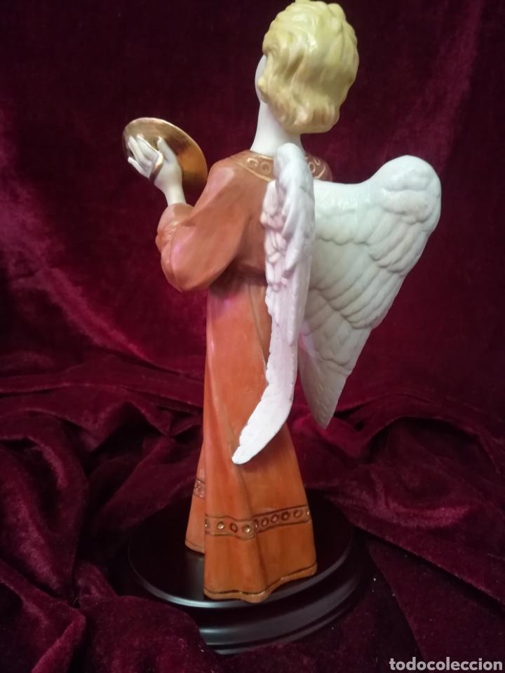 Antigüedades: Ángel músico porcelana algora - Foto 5 - 123569255