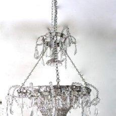 Antigüedades: LAMPARA DE CRISTAL DE LA GRANJA. SIGLO XIX. REAL FABRICA DE LA GRANJA, SAN ILDEFONSO (SEGOVIA). Lote 123569851