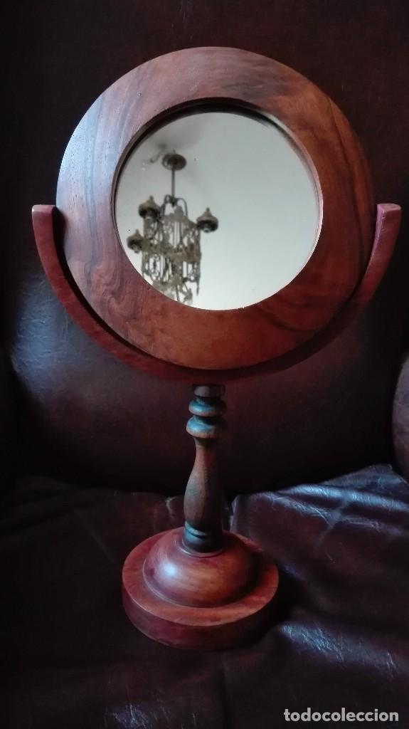 ESPEJO TOCADOR DE NOGAL. (Antigüedades - Muebles Antiguos - Espejos Antiguos)