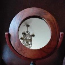 Antigüedades: ESPEJO TOCADOR DE NOGAL.. Lote 123579175