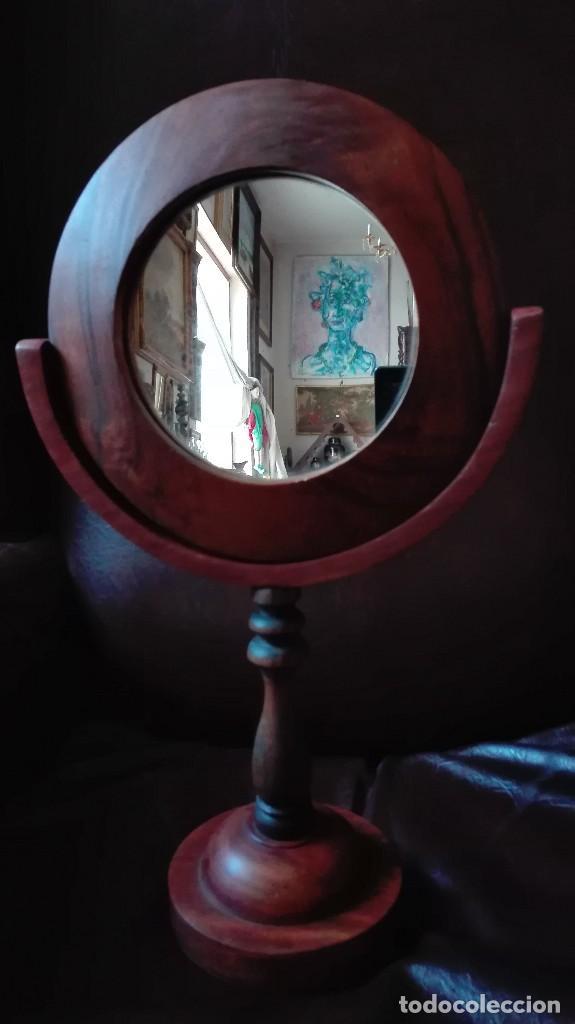 Antigüedades: Espejo tocador de nogal. - Foto 2 - 123579175