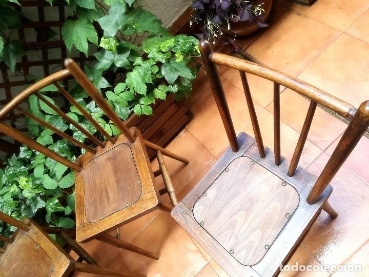 Antigüedades: Antiguas sillas de castaño - Foto 3 - 123582059