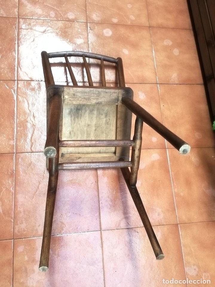 Antigüedades: Antiguas sillas de castaño - Foto 4 - 123582059