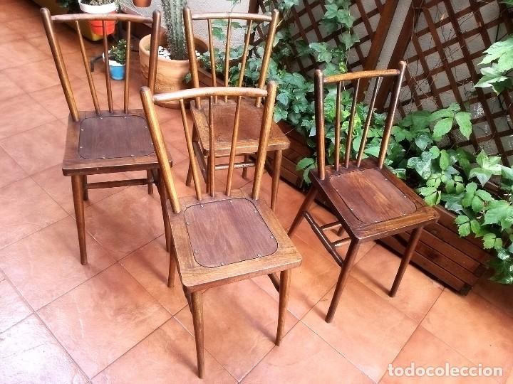 Antigüedades: Antiguas sillas de castaño - Foto 5 - 123582059