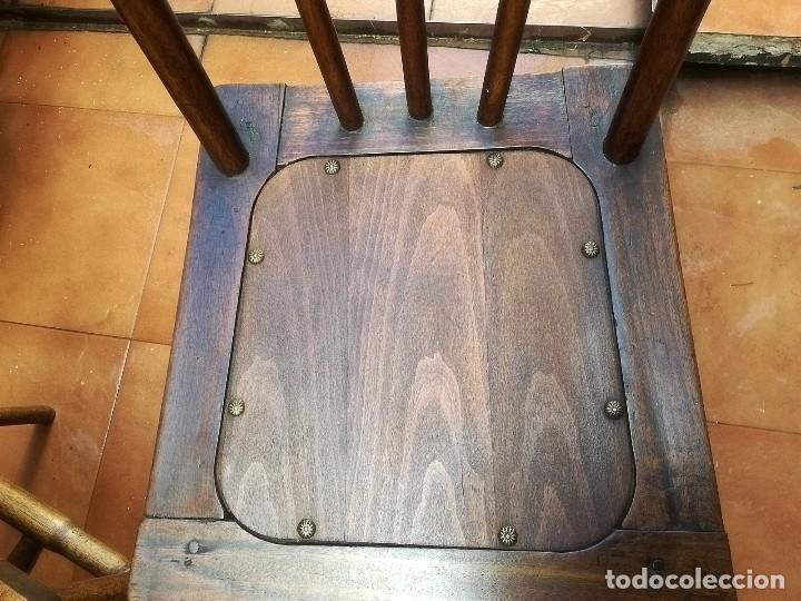 Antigüedades: Antiguas sillas de castaño - Foto 6 - 123582059