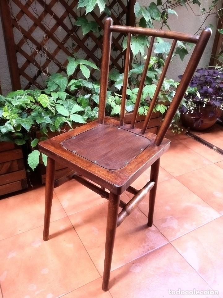 Antigüedades: Antiguas sillas de castaño - Foto 7 - 123582059