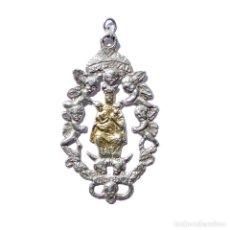 Antigüedades: MEDALLA DE PLATA NUESTRA SEÑORA DE VALVANERA. PATRONA DE LA RIOJA - 7 CM DE ALTO. Lote 123602559