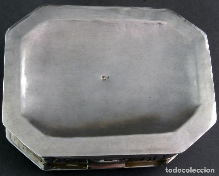 Antigüedades: Joyero de plata portuguesa con decoración vegetal en relieves principios siglo XX - Foto 5 - 123666543