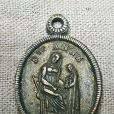 Antigüedades: ANTIGUA MEDALLA RELIGIOSA SANTA ANA. Lote 123764031