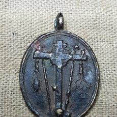 Antigüedades: ANTIGUA MEDALLA RELIGIOSA CRUZ DESCENDIMIENTO. Lote 123765014