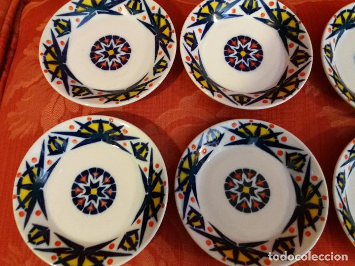 Antigüedades: Sargadelos Castro juego cafe toxo color primerísimas piezas prueba laboratorio colores vivos. - Foto 2 - 123788575