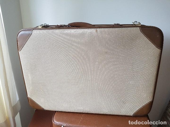 Usado, Maleta antigua ideal para decoración suitcase vintage 70x48x19 segunda mano
