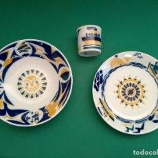 Antigüedades: VAJILLA INFANTIL O CASTRO SARGADELOS (3 PIEZAS). Lote 123799583