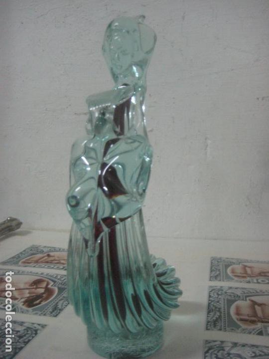 Antigüedades: PRECIOSA FIGURA DE CRISTAL DE ESTILO LALIQUE TALLADA CON CALIDAD Y BURBUJA INTERIOR MARRON, AÑOS 20 - Foto 8 - 123800147