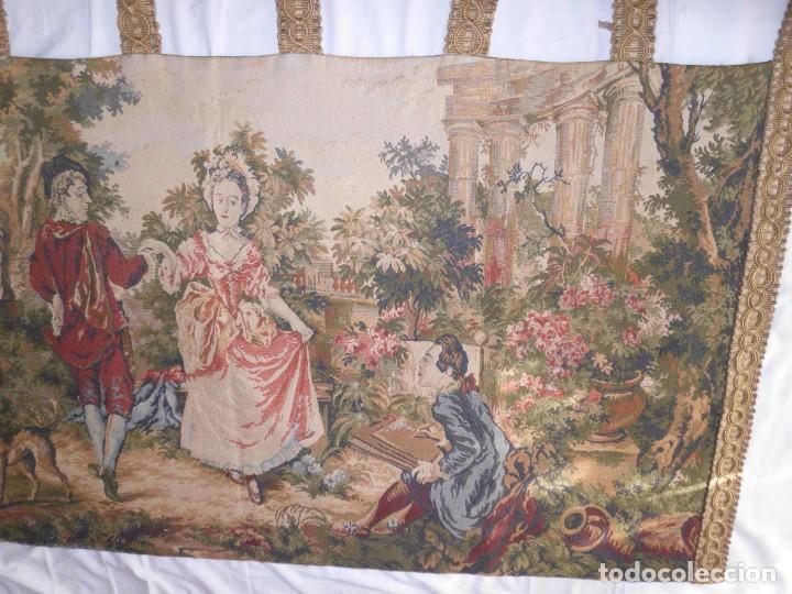 Antigüedades: GRAN TAPIZ MOTIVO ROMANTICO - Foto 3 - 123891899