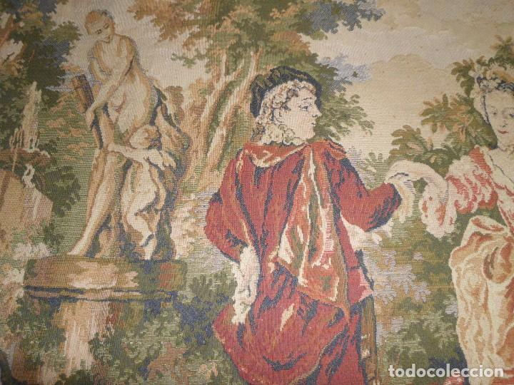 Antigüedades: GRAN TAPIZ MOTIVO ROMANTICO - Foto 5 - 123891899