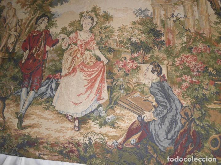 Antigüedades: GRAN TAPIZ MOTIVO ROMANTICO - Foto 11 - 123891899