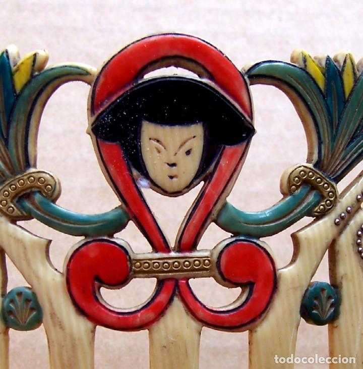 Antigüedades: Peineta de estilo egipcio en marfil imitación de la década de 1920 - Foto 4 - 123893075