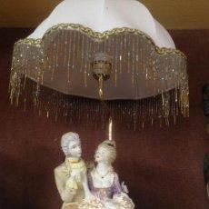 Antigüedades: PRECIOSA LAMPARA PORCELANA DECLARACION DE AMOR GALERIA DEL COLECCIONISTA. Lote 124006163