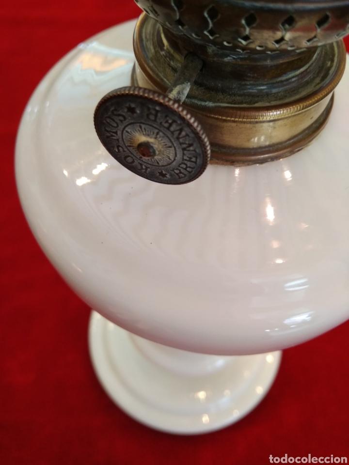 Antigüedades: Quinqué cristal opalina - Foto 6 - 124025934